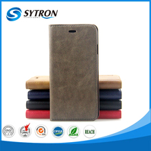 High quality leather hard PC inner case for iphone 6s leather wood case
