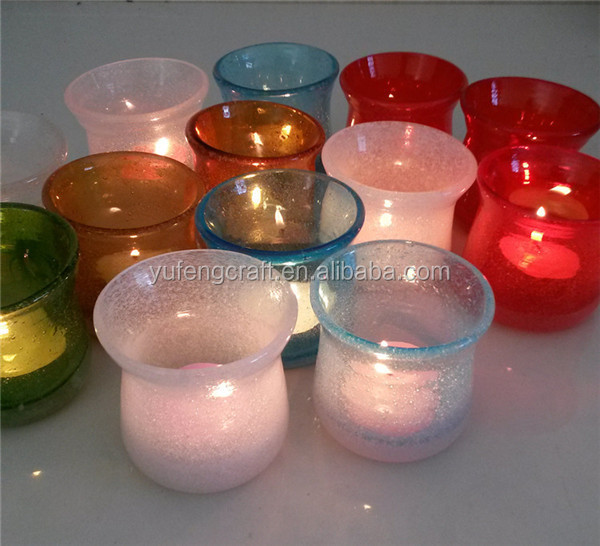 small bubble colorful glass votive holders wholesale wedding decoration