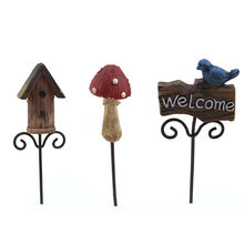Wholesale Polyresin Fairy Garden Accents Miniatures Stake