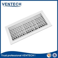 Double deflection supply air register/aluminium air vent grille