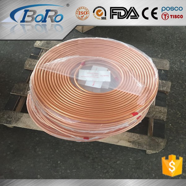 C12200 inner grooved copper tube/pipe for air conditioner refrigeration