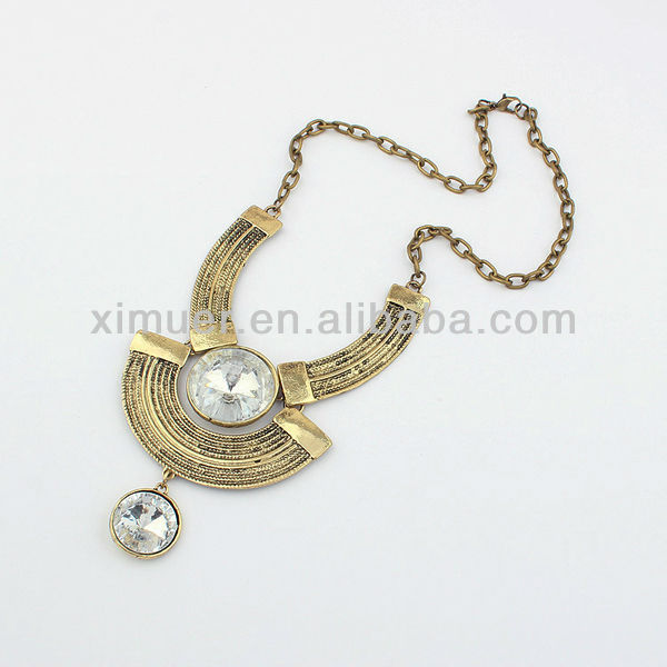 Gold antique necklace jewelry.westem yin yang necklace