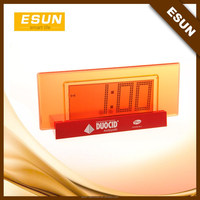 Factory supply ESUN Big screen cheap desk alarm clock/jumbo digital clocks/Promotional clock