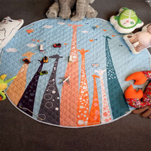 wholesale saftey round shaped baby cushion nap baby blanket play toy mats