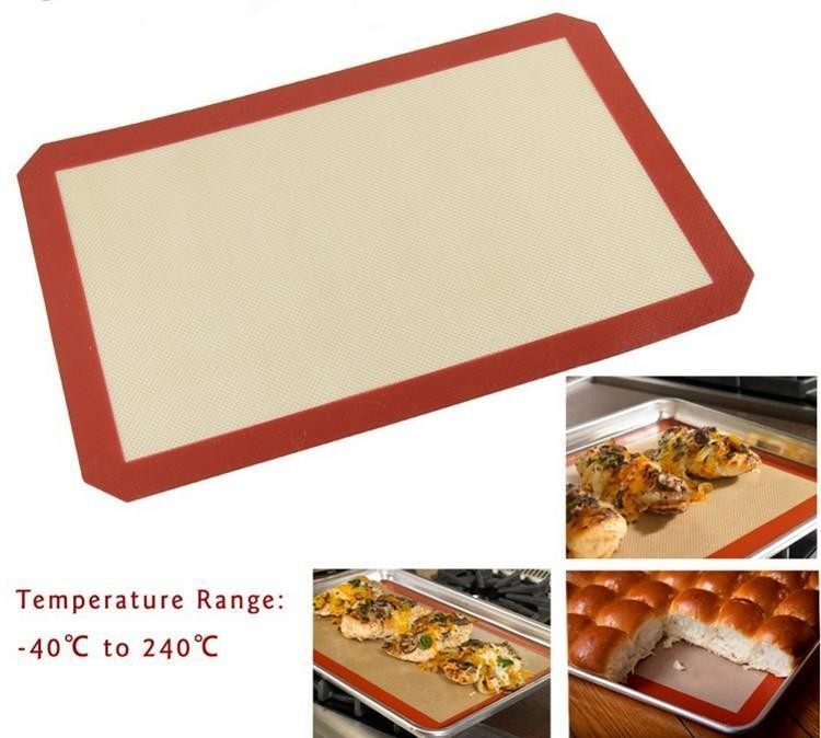 Kitchenware food grade heat resistant non stick silicone baking mat set