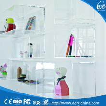 acrylic wall box mounted display wall shelf