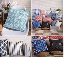 Adults Age Group and Square Shape Screen Printed cotton linen cushion cover