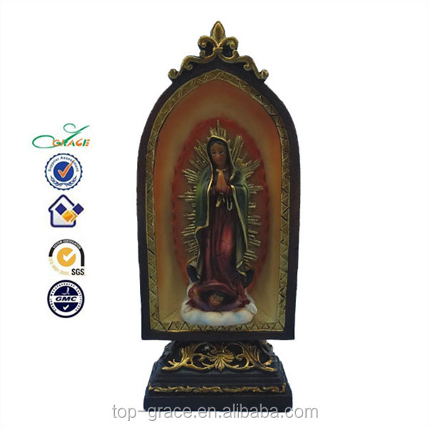 polyresin the virgin mary decoration