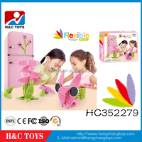 Educational toys kids diy assembling toys magnetic flexible building blocks HC352279