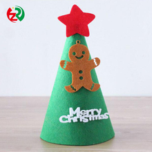ODM Christmas gift outdoor customized high quliaty decoration promotional felt Christmas hat for kids