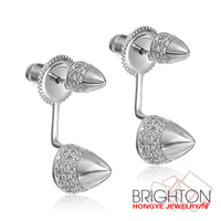 Silver Plated Elegant Stud Earrings Women Jewelry 2-6869-9350