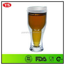 Promotion personalized 14 Ounce insulated plastic beer mug with PP lid