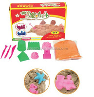 Kids educational toy magic kenetic sand coloured sand modeling sand