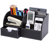 Multifunctional PU Leather Desk Organizer Desktop