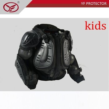 motocross armour motorcycle armor jacket full body guard armor spine protection for youngth kids red edge