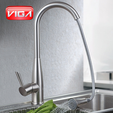 VIGA Brushed Nickel Pull Out faucet Spray Kitchen Faucet