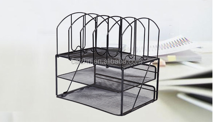 Simple and practical black office mesh desk organizer