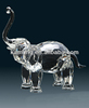 Animals Figurine,Crystal Souvenir Optical Glass Clear Color Crystal elephant
