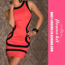 Hot Sale Women Summer Sexy Sleeveless Party Bodycon Mini Club Dress