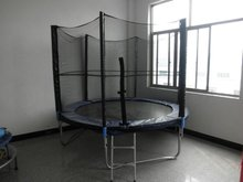 wholesale cheap 18ft 20ft outdoor gymnastic biggest trampoline with safety net, trampoline bed