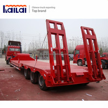 Heavy Duty Truck transportation 100 ton Lowbed Semi Trailer Trucks And Trailers