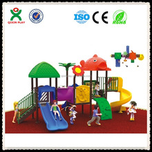 2016 New design playground equipment used for preschool commercial outdoor playground playsets QX-056A