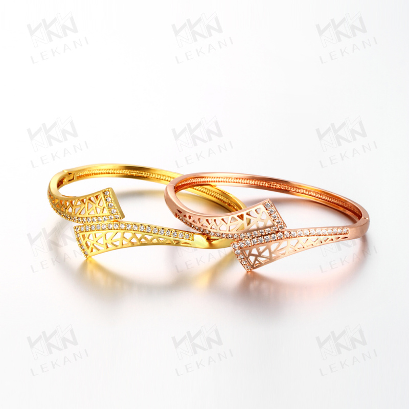 KZCZ012 India Handmade Jewelry Brass Gold Plated Bangle
