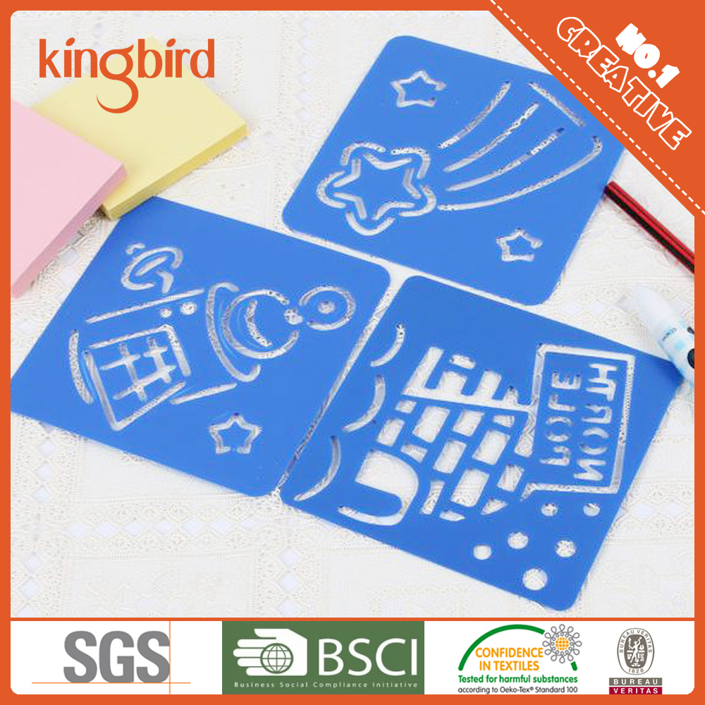 Wholesale New design PP Drawing Stencil For Kids