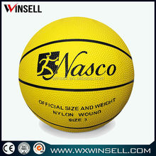 New design durable official size 6 rubber basketball