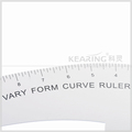 "Kearing aluminium tailor curve ruler 12"" metal french curve for easy measuring"