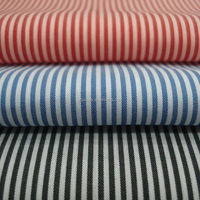 High density 100% cotton yarn dyed stripe woven shirting fabric