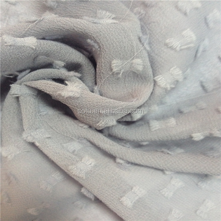 wholesale heavy chiffon / floral chiffon jacquard fabric for dress