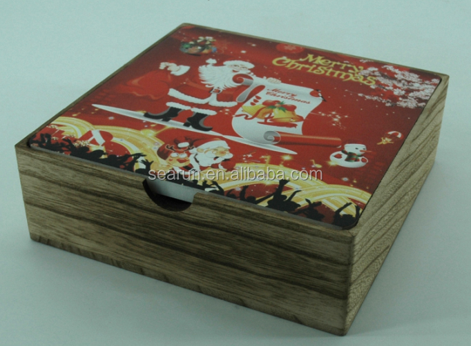 Unique wooden christmas box/christmas wooden box for gifts