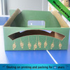 Small corrugated fruit take away packaging box with handle