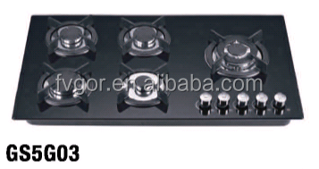 Fvgor high quality 5 burner gas cooker from turkey GS5G03