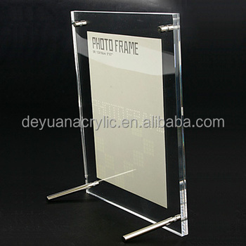 custom size acrylic beautiful photo frames/led light photo frame