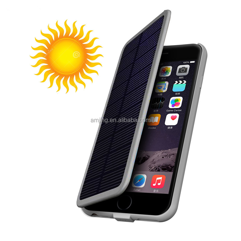 solar power mobile phone charger case