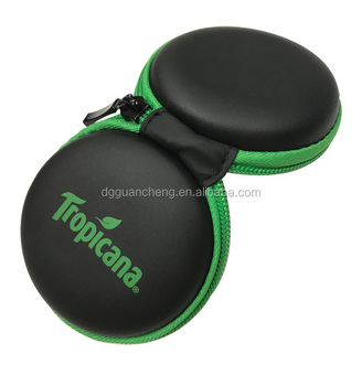 GC---Offer sustainable Nice zipper closure black pu EVA earplug package