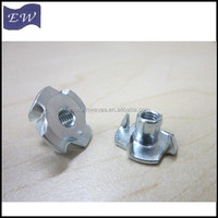 wood t nuts ,4 pron tee nut (DIN1624)