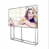 Ultra Thin Seamless Bezel TV DID LCD Video Wall Display 55 Inch Panel Floor Standing with Bracket