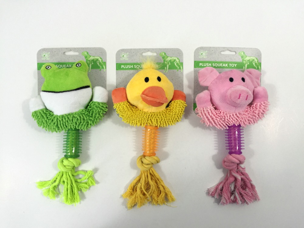 High Quality Eco-Friendly Pet Products Suppliers TPR and cotton rope Pet Toy China Import Dog Toys