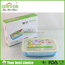 ss304+PP bento lunch box/5compartments lunch box/cartoon kids food box
