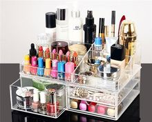acrylic paper display stand MX3681 new clear acrylic makeup lipstick display stand holder cosmetic storage
