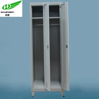 Cheap steel double door locker cabinet/closet organizers/metal clothes cabinet
