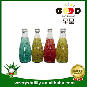 290ml glass bottle passion Fruit Flavor Basil Seed Juice Drink