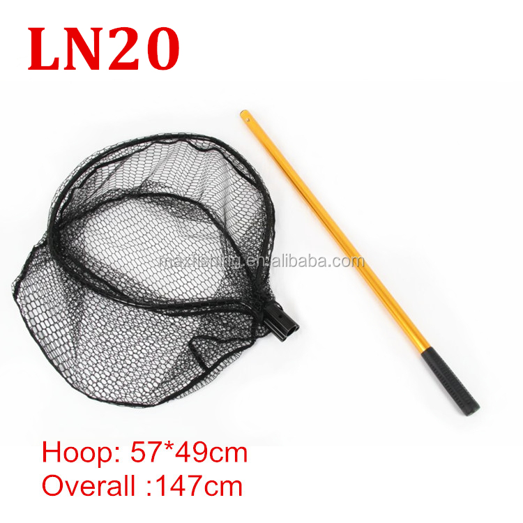 Very strong long handle aluminum landing net buy landing for Long handle fishing net