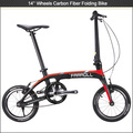 "New design carbon fiber mini bike,14"" folding mini bicycle"