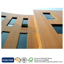 Popular wood plastic composite wood grain exterior wall panel, WPC Wall Panel, modern wood wall panels