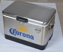 vintage corona metal ice cooler