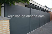 WPC Fence For Garden Use Water Proof Anti-UV Exterior Fencing Wood Grain Basic Fence